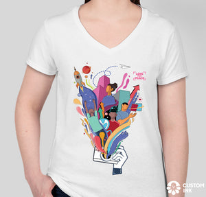 """Dreams"" Women's White T-Shirt - Design by @andreatalavera"