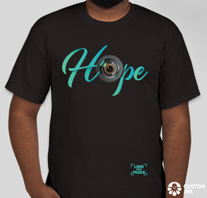 """Hope"" Black T-Shirt - Design by @gordo.ibanez"