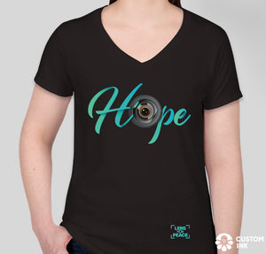 """Hope"" Women's Black T-Shirt - Design by @gordo.ibanez"