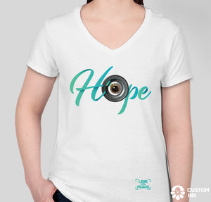 """Hope"" Women's White T-Shirt - Design by @gordo.ibanez"
