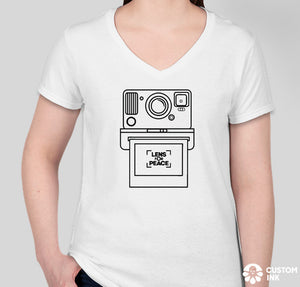 """Instacam"" Women's White T-Shirt - Design by @cduranl84"