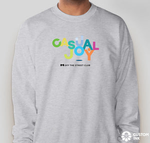 Casual Joy Sweatshirt - Light Gray