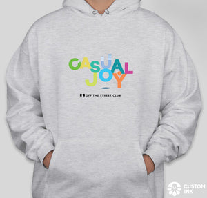 Casual Joy Hoodie - Light Gray