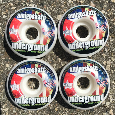 Amigoskate X Underground Wheel Co. Collab 53mm