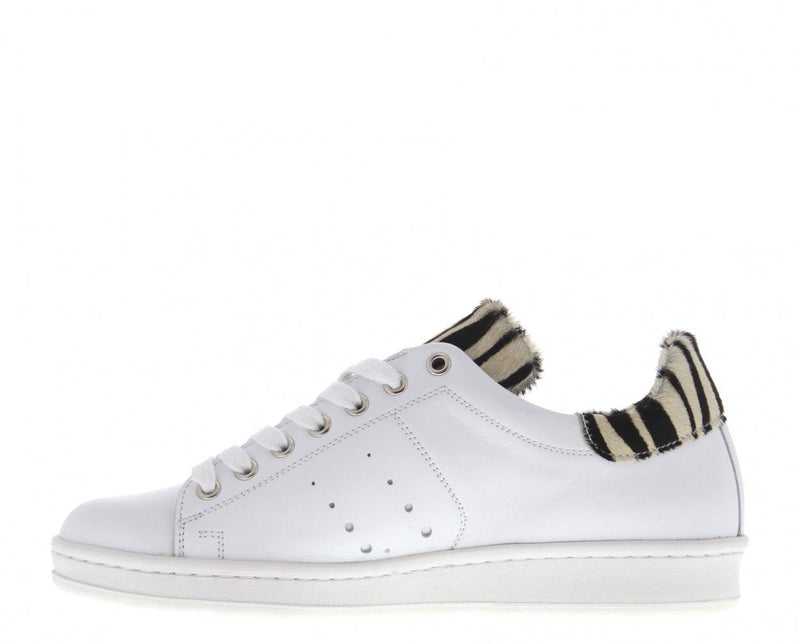 Anna 17-cn white leather/zebra - white outsole