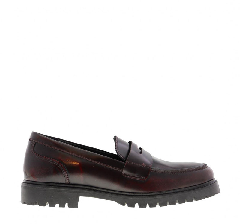 Bee 200-a bordeaux polido cartel loafer - black sole
