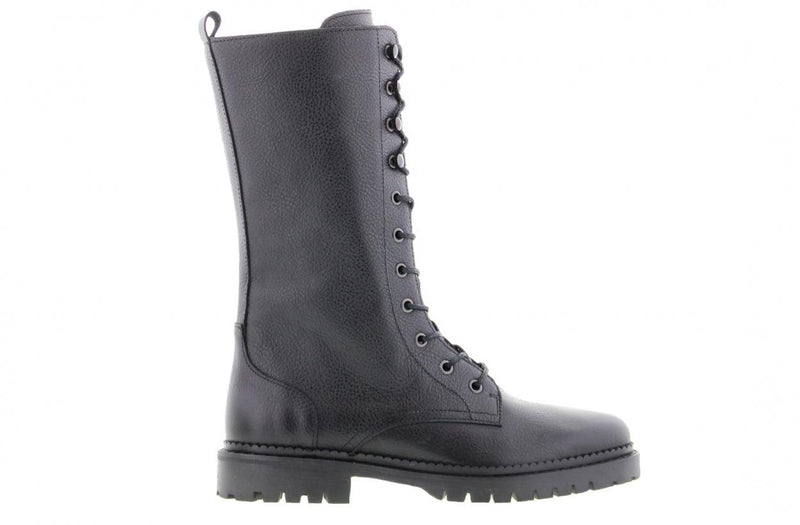 Bee 235-a black leather boot - black sole/welt