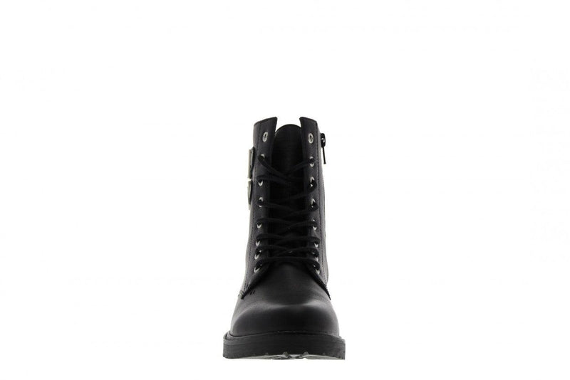 Bee 329-a biker 2 straps black leather - black sole