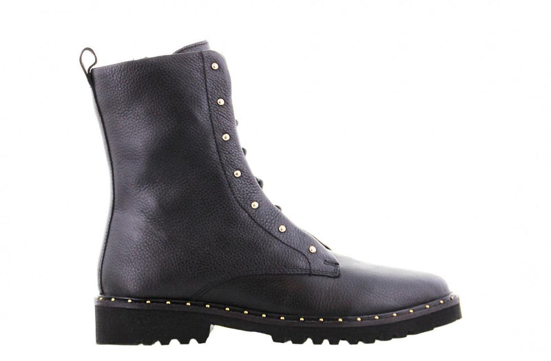 Bee 5152-e TV black leather blind closure boot with studs - black sole/studs welt