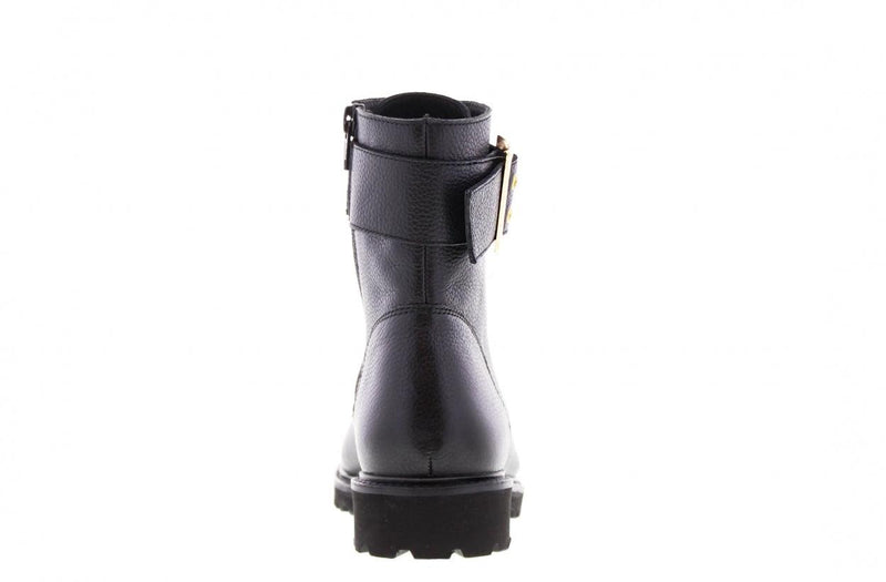 Bee 524-a black boot/strap/buckle gold - black sole