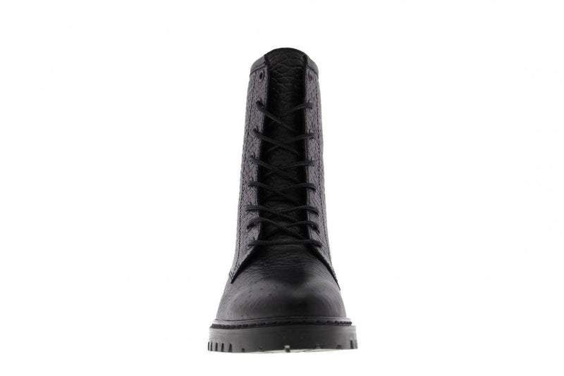 Bee 81-e black heavy leather biker- black sole/black stitched welt