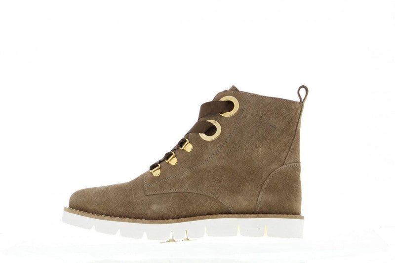 Bee alp 53-e taupe suede/big rings/ski hooks - natural welt/off white outsole