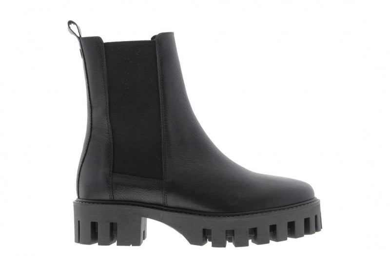 Bee cartel 6-a black leather chelsea boot - black sole
