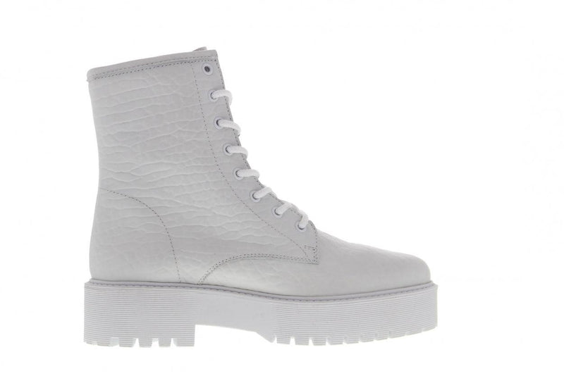 Bee chunky 81-d white elephante leather biker - white sole