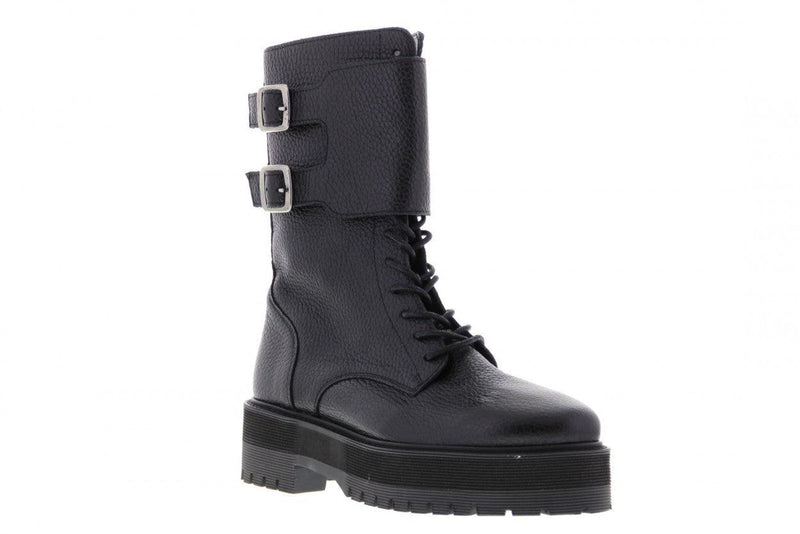 Bee chunky 9-a black leather/buckle strap - black sole