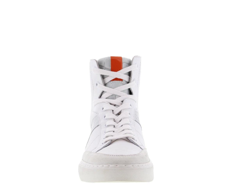 Brooke 8-b Kim kotter white leather croco high sneaker - white sole