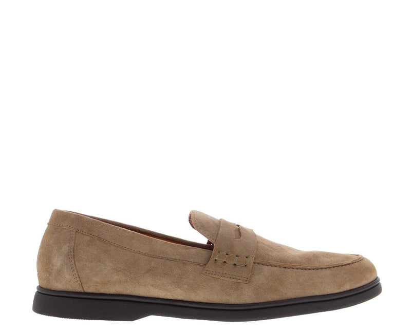 Elias 5-a taupe suede loafer - dk brown sole
