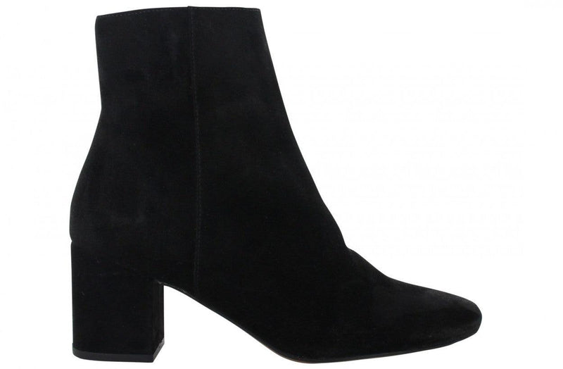 Ella block 1-g p.w black suede basic boot - covered heel/black sole