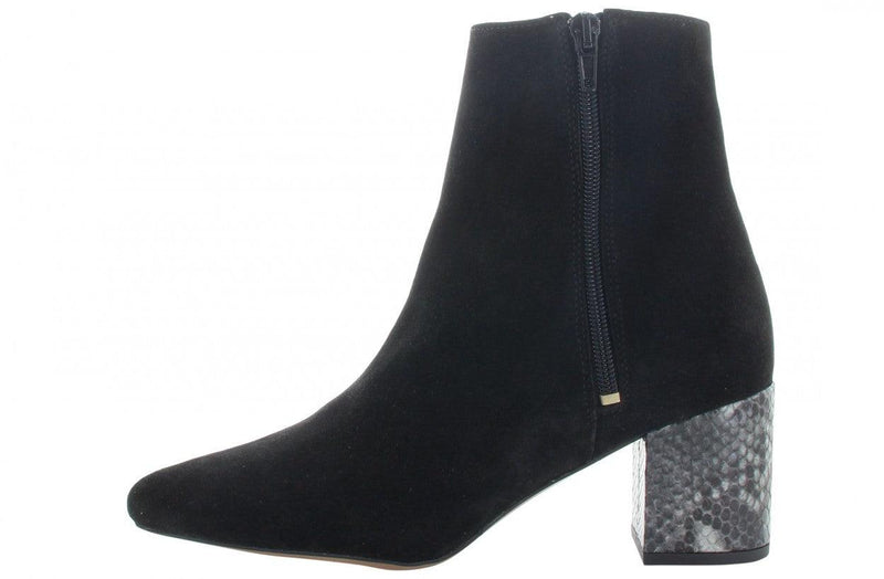 Ella block 21-e black suede basic boot - piton heel/black sole