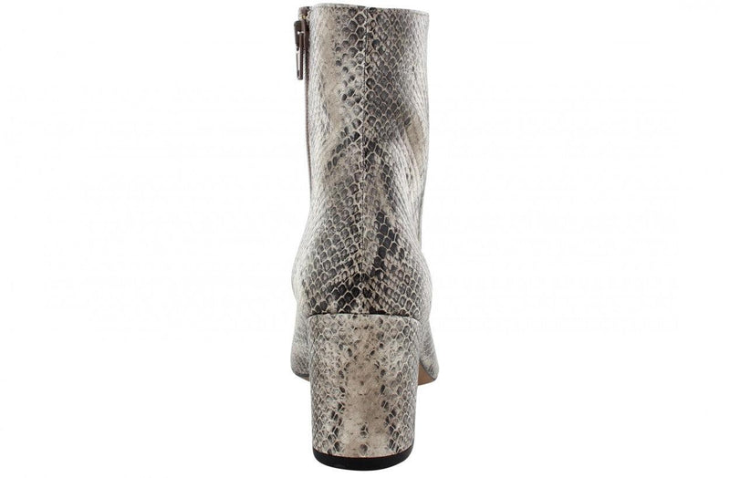 Ella block 31-c taupe snake basic boot - covered heel/black sole