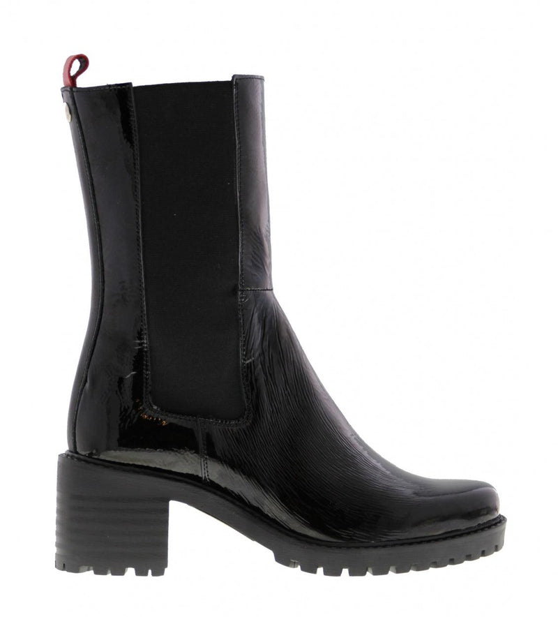 Emily sportive 21-a black patent leather chelsea boot - black sole