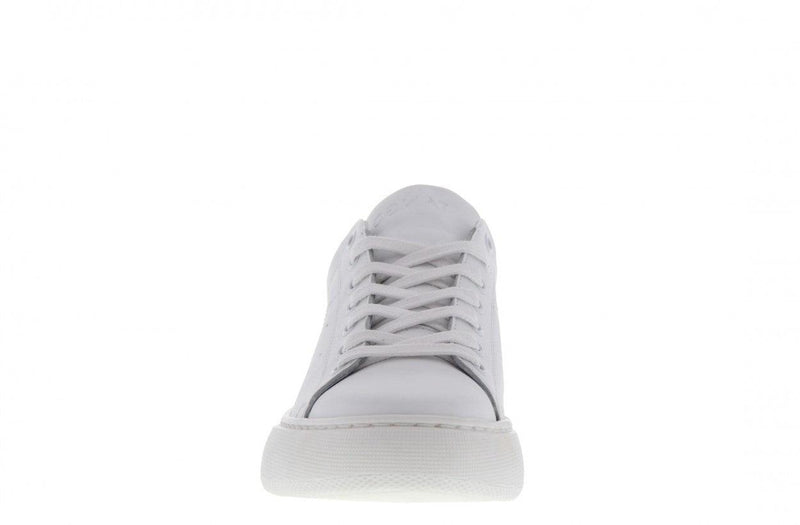 Ingeborg 10-a white leather/neon yellow - white sole