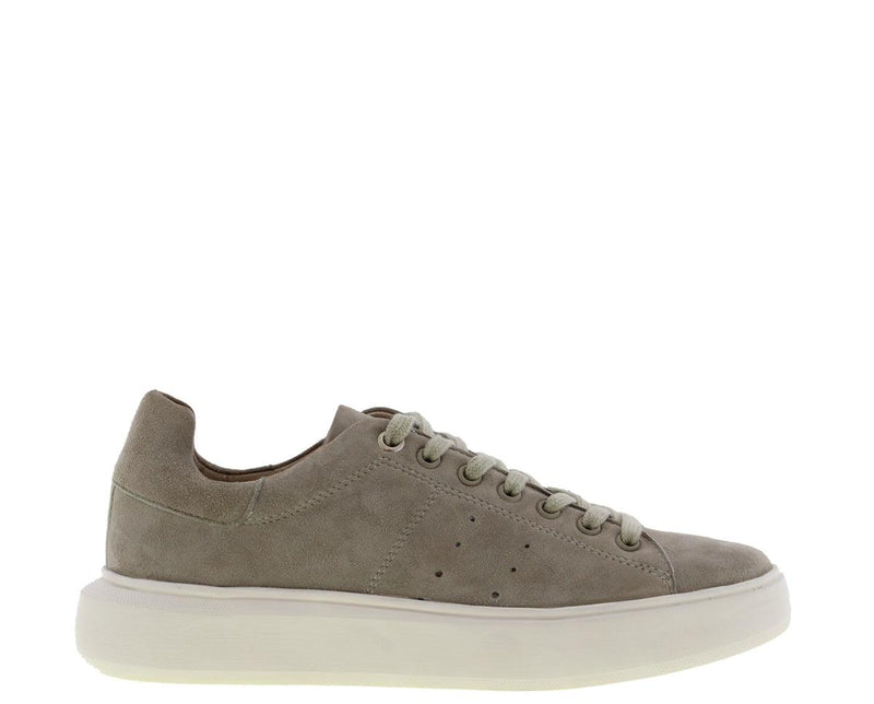 Ingeborg 501-bp light green kid suede sneaker- off white outsole