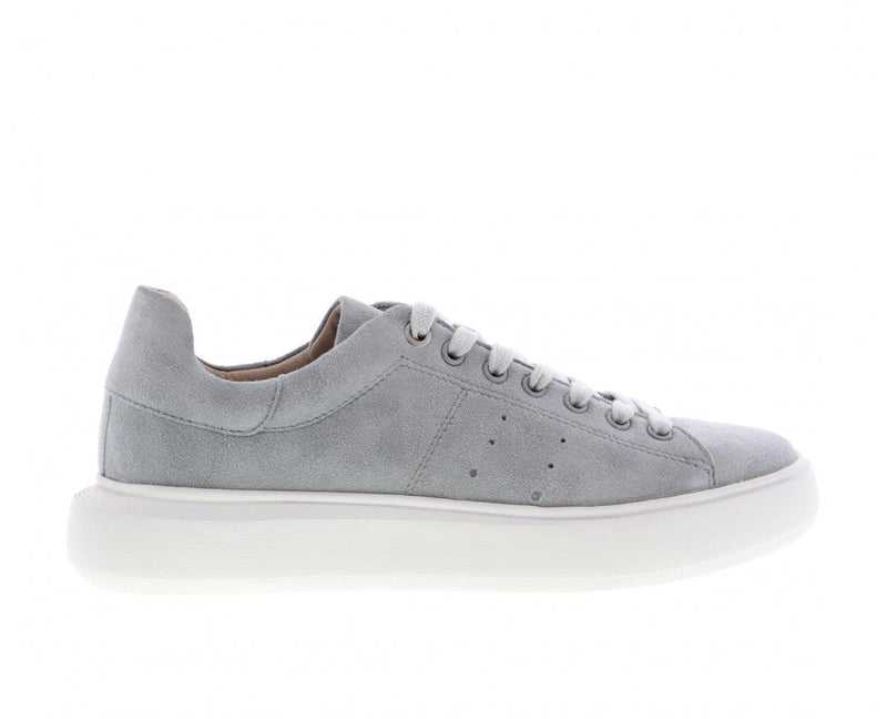 Ingeborg 501-br light blue kid suede sneaker- white outsole