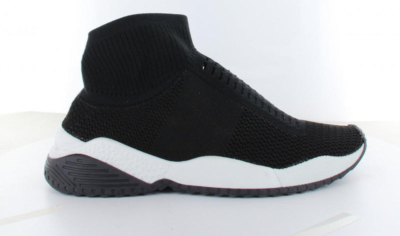 Isabel 1-a black sock upper - black/white sole