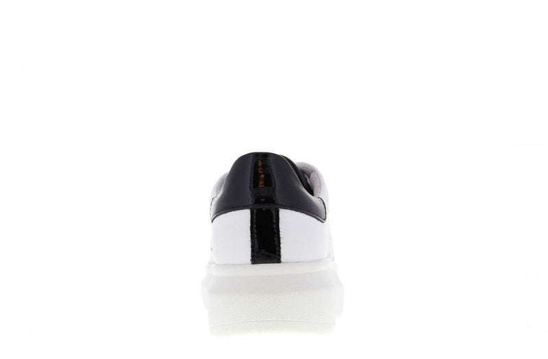 Jaimy 301-r white leather/black - white sole