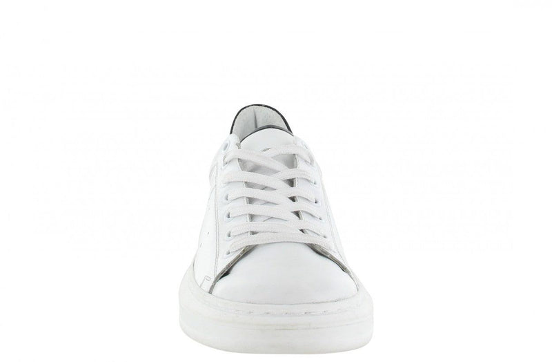 Jaimy 1-r white leather/black patent - white sole