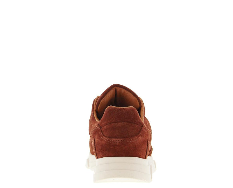 Kady 1-as dark brick suede jogger - off white sole