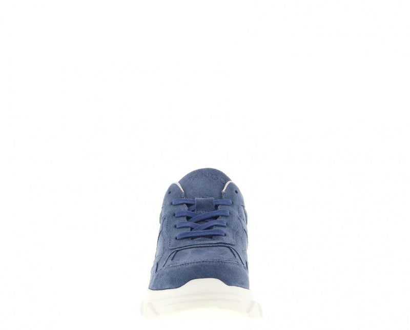 Kady fat 10-an blue suede jogger - off white sole