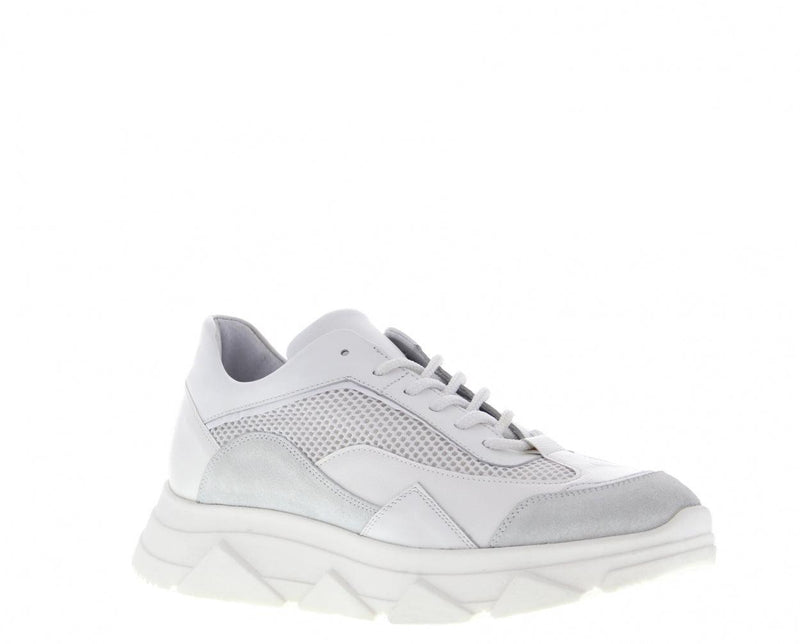 Kady fat 22-c mt white leather/suede/mesh combi sneaker - white sole