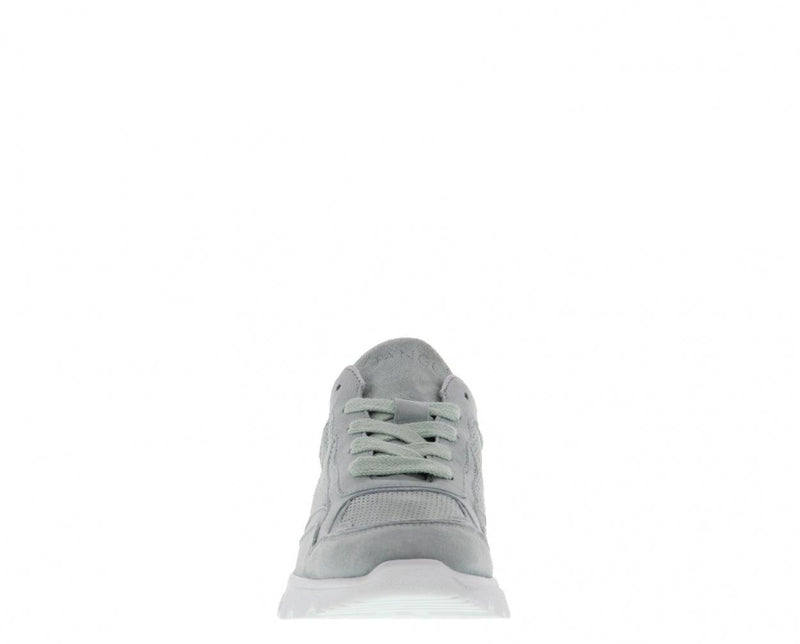 Kate 13-a mint kid suede perfo sneaker - white sole