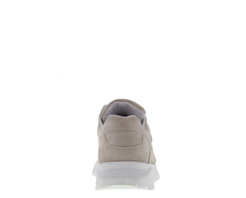 Kate 13-h beige suede perfo sneaker - white sole
