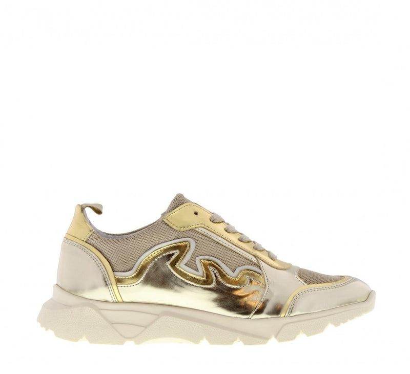 Kate 16-a full gold sneaker - off white sole