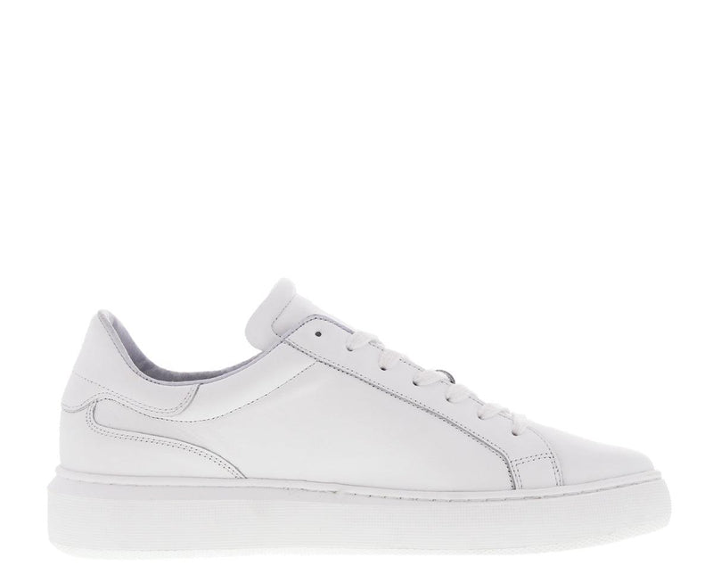 Luna 16-d white leather sneaker - white sole