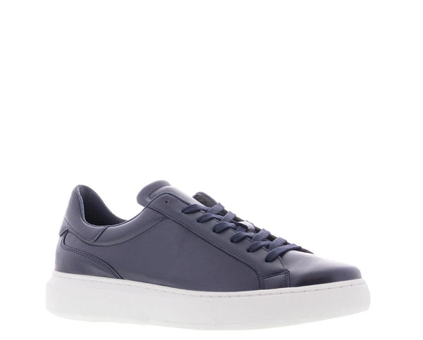 Luna 16-n navy leather sneaker - white sole