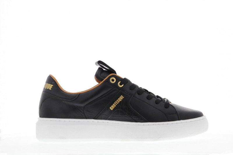 Luna 3-g van dalen black leather/croco sneaker