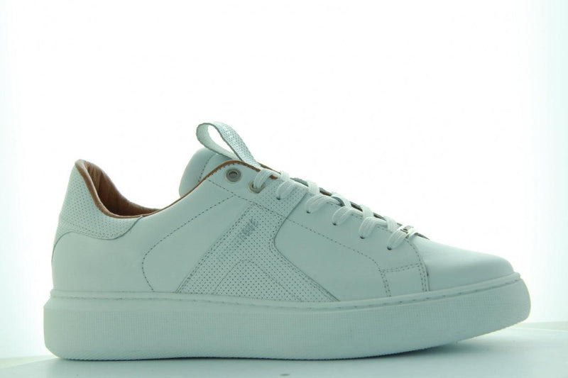 Luna 3-n white leather sneaker/perfo - white sole