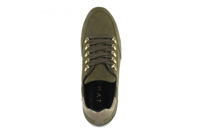 Marike 27-c stone grey nubuck/crack metalic hook sneaker - black/stone grey sole