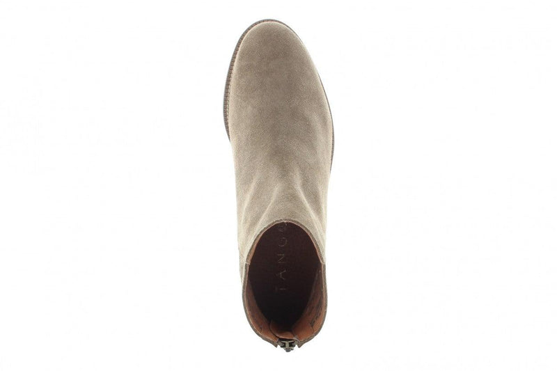 Pleun 46-a taupe suede laser backpart boot - wooden sole