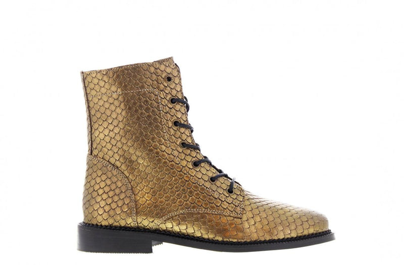 Pleun cartel 12-i old gold escamado boot - black sole