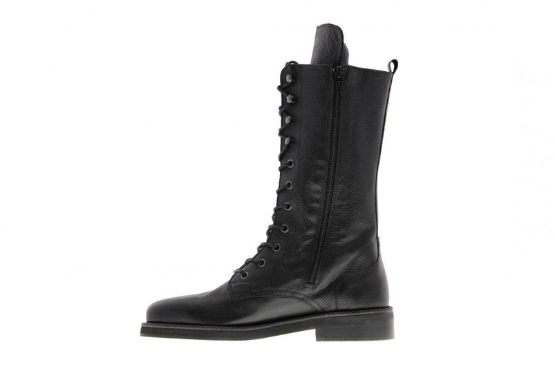 Pleun fat 35-a black leather boot - black sole/glass welt