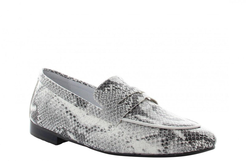 Pleun new 40-c p/w off white snake loafer - black sole