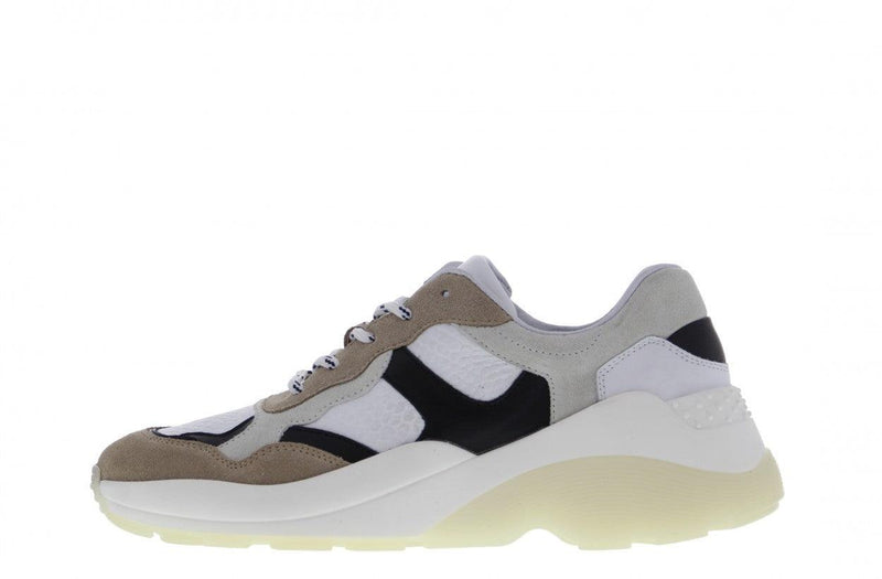 Sage 2-c - beige/off white/black/gold sneaker straps- white/off white sole
