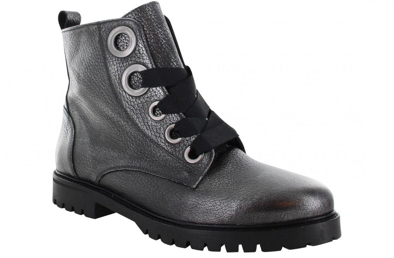 Bee 121-c p.w  gun metal metallic tumbled - black sole