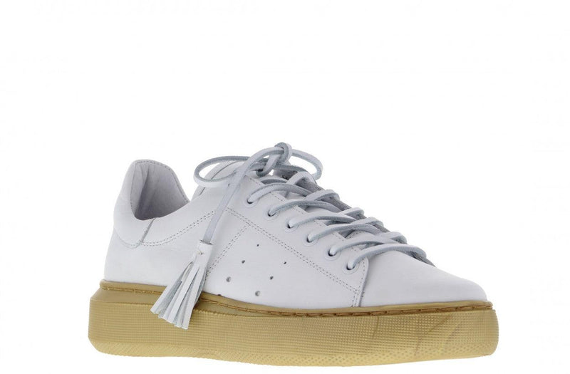 Ingeborg 1-a white leather - gold sole