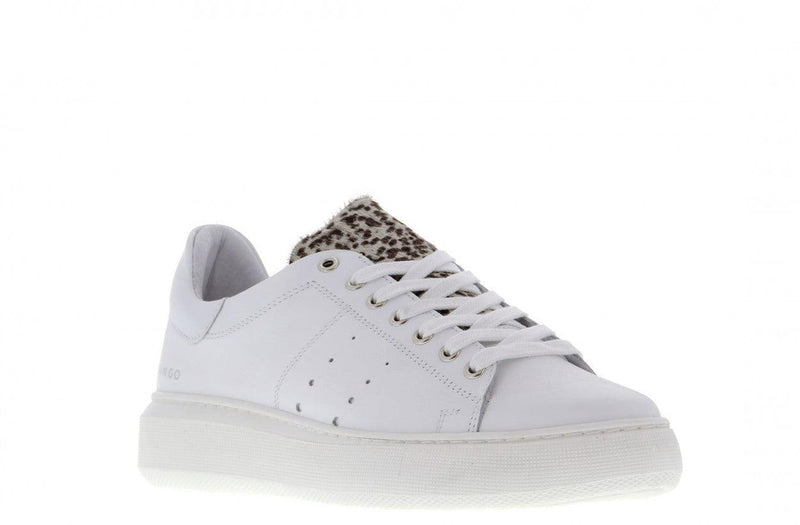 Ingeborg 1-cf white leather/black white animal - white outsole